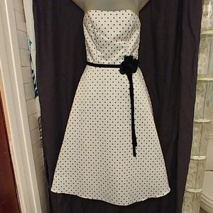 Vintage 80s Scott McClintock Polka Dot Prom Dress